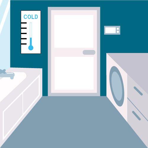 寒い洗面脱衣所